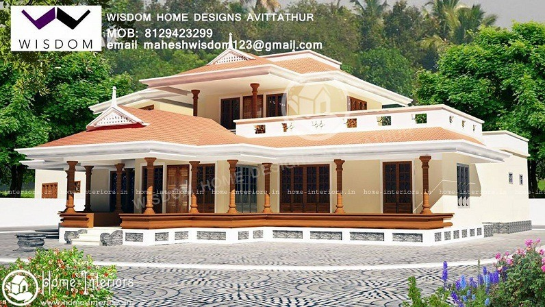 2700 Sq Ft Kerala Classic Double Floor Home Design