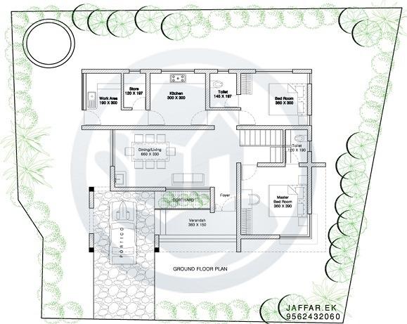 1125 Sq Ft Single Floor Contemporary Home Design