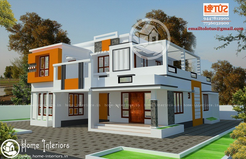2185 Sq Ft Double Floor Contemporary Home Designs