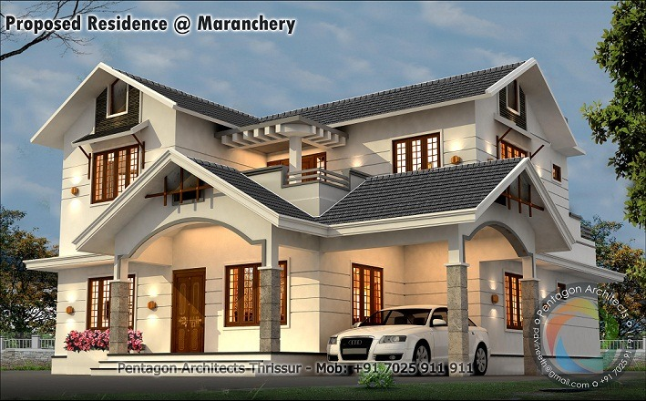 2700 Sq Ft Double Floor Modern Stylish Home Design