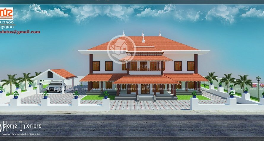 4500 Square Feet Double Floor Traditional Home Design