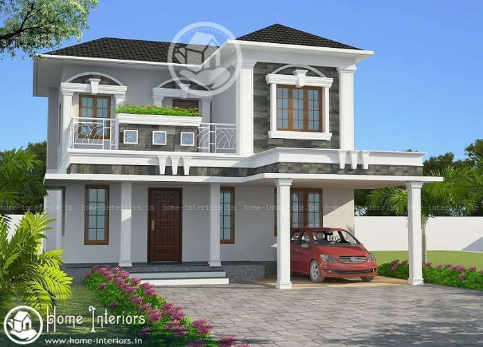1800 Sq Ft Contemporary Double Floor Home Design