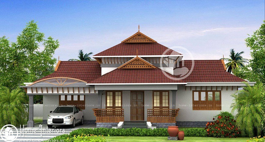 1850 Sq Ft Modern Traditional 3 BHK Home Design