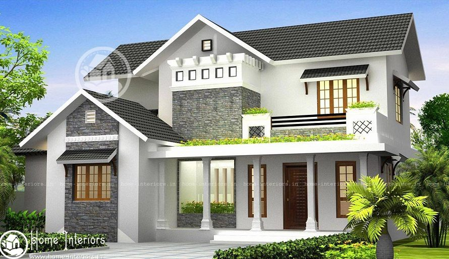 2300 Sq Ft Modern Style Double Floor Home Design