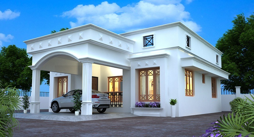 sq ft single floor modern villa home design home interiors