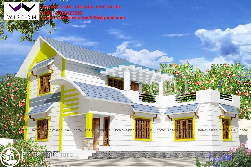 1680 Sq Ft Double Floor Contemporary Home Designs