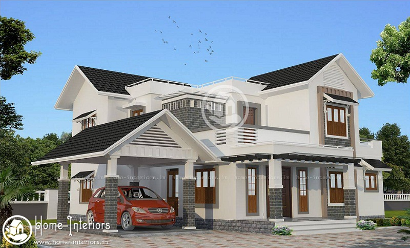 2300 Sq Ft Double Floor Contemporary Home Designs