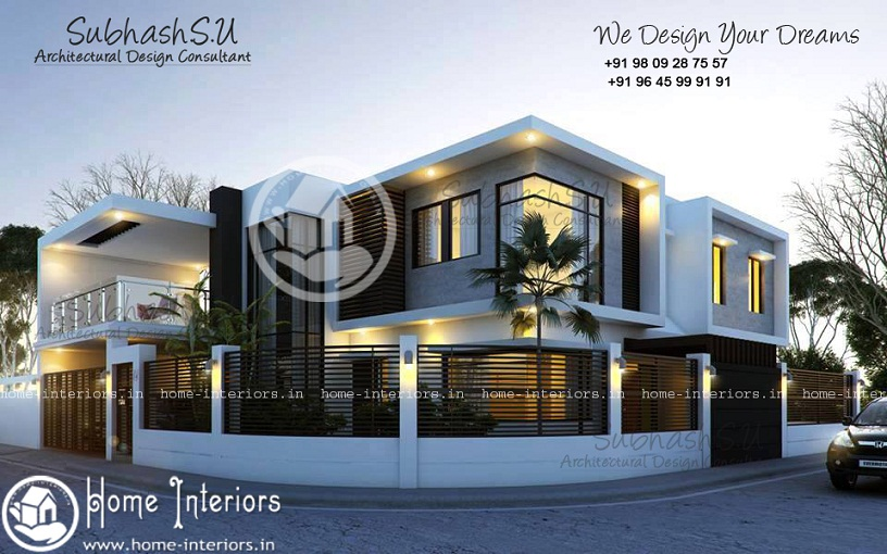 2850 Sq Ft Double Floor Contemporary Home Design