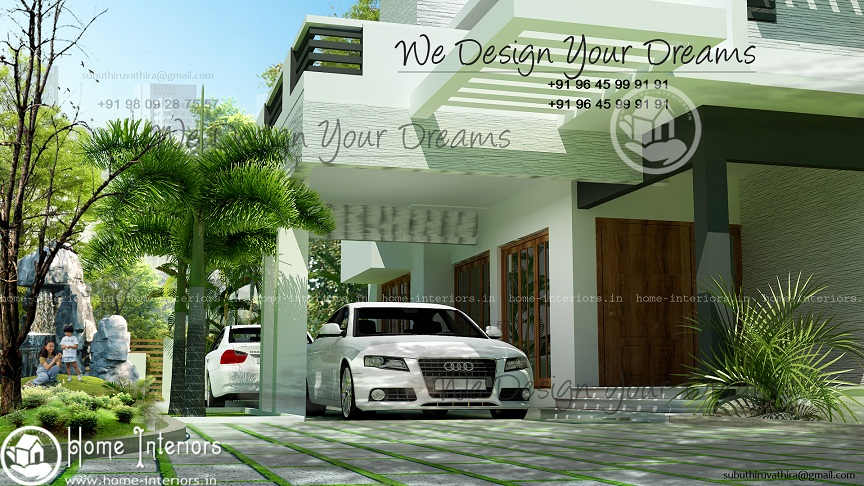 2300 Sq Ft Contemporary Double Floor Home Design
