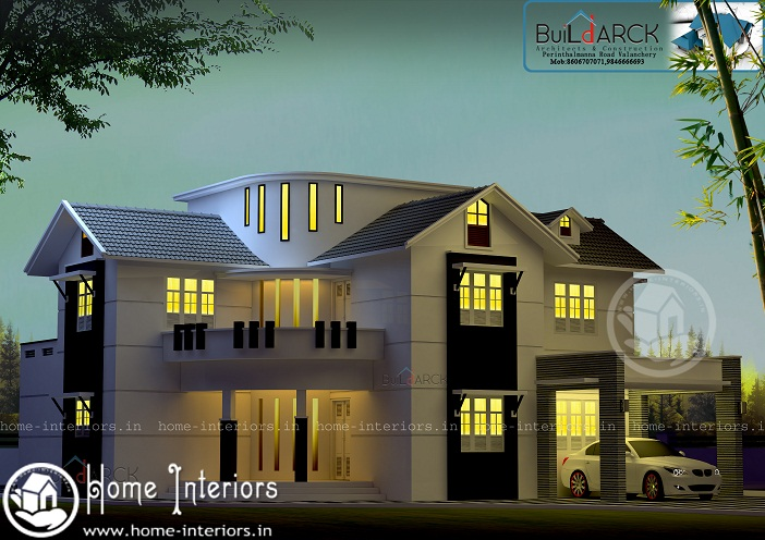 2510 Sq Ft Double Floor Contemporary Home Design