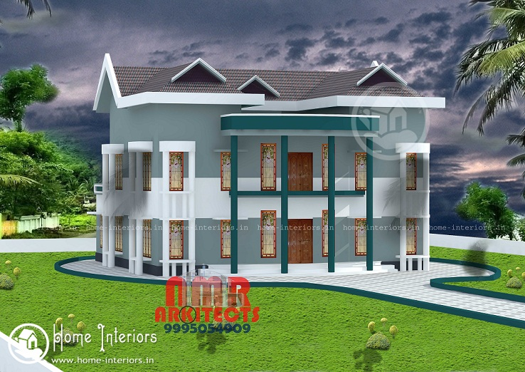3049 Sq Ft Double Floor Contemporary Home Designs