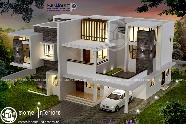2599 Sq Ft Double Floor Contemporary Home Design