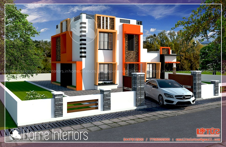 1730 Square Feet Double Floor Contemporary Home Design