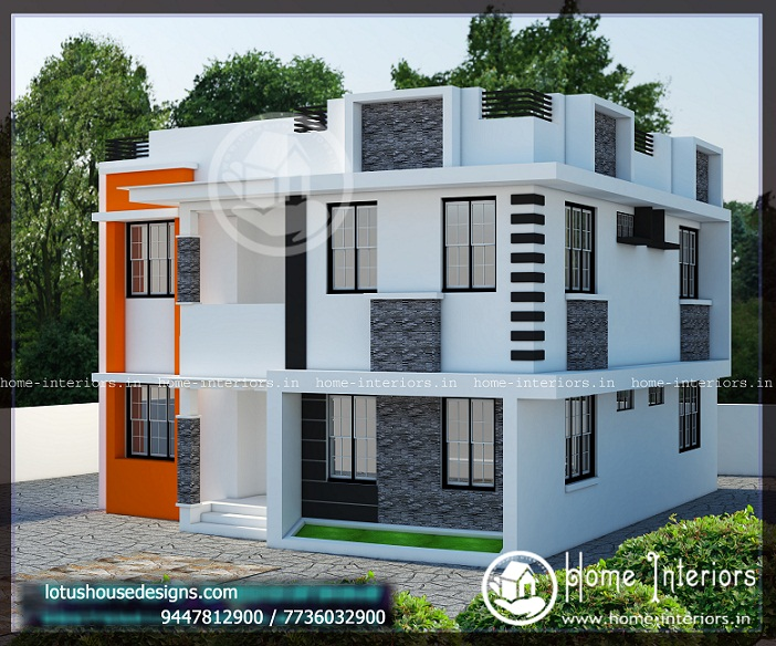 2127 Sq Ft Double Floor Contemporary Home Design