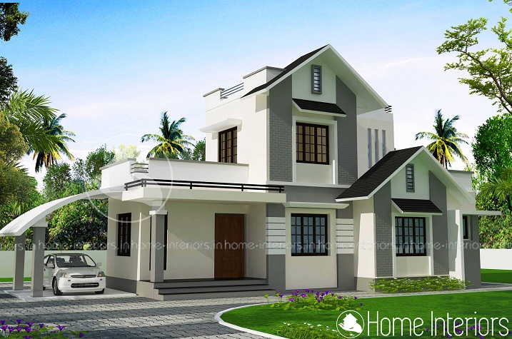 1350 Square Feet 3 BHK Double Floor Budget Home Design