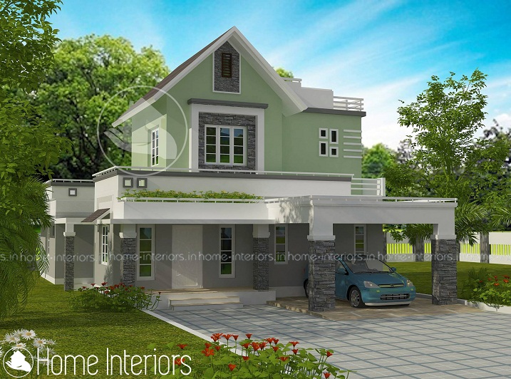 1750 Square Feet Modern Traditional Budget Home Design