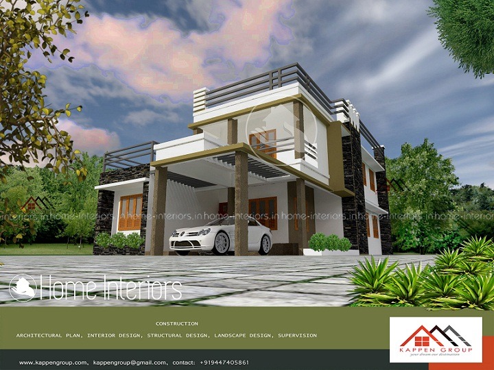 2250 Square Feet Double Floor Contemporary Home Design