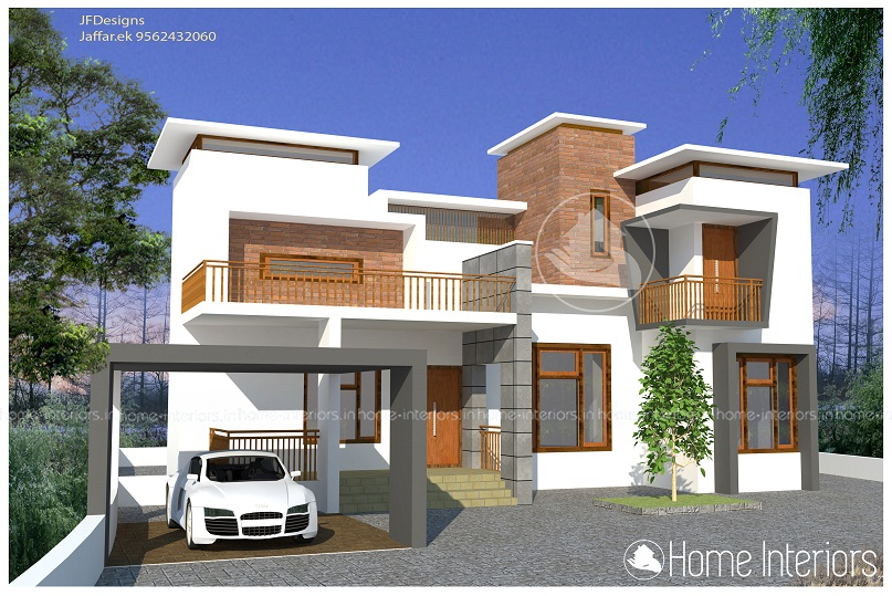 2650 Square Feet Double Floor Contemporary Home Design