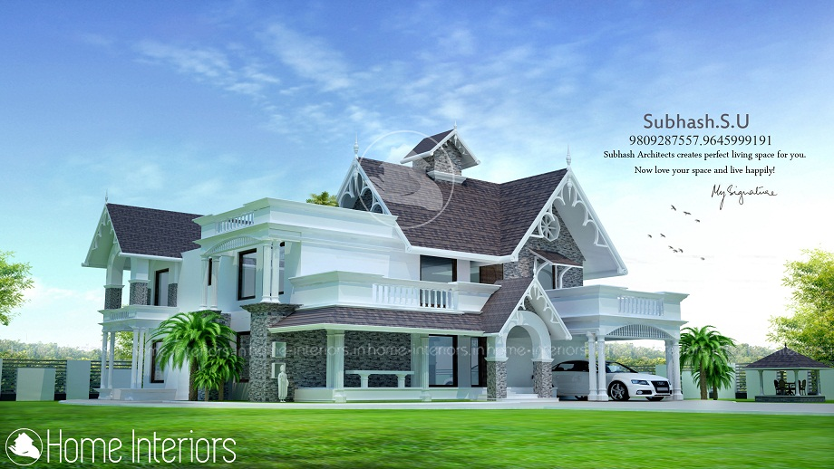 3200 Square Feet Double Floor Contemporary Home Designs