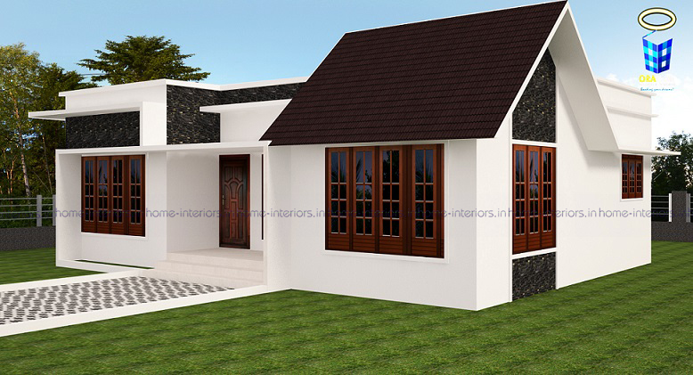 1100 square feet single floor contemporary home design for 1100 sq ft home plans