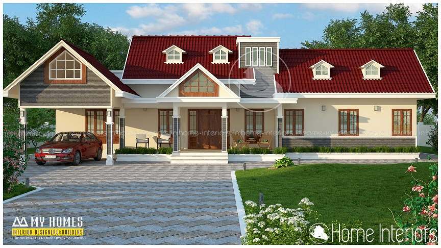 800 sq ft modern style kerala home design 10 5 lakh for Car porch designs for houses