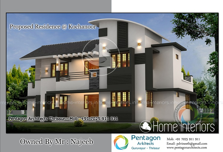 Modern Kerala House Design 2016 At 2980 Sq Ft: 2456 Square Feet Double Floor Contemporary Home Design