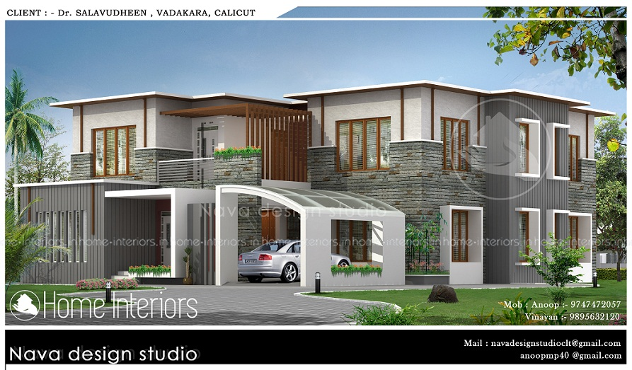 3720 Square Feet Double Floor Contemporary Home Design