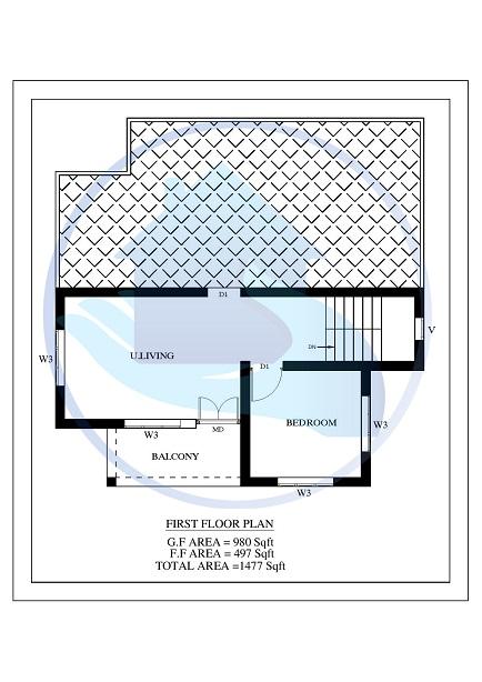 Modern Kerala House Design 2016 At 2980 Sq Ft: 1477 Square Feet 4 BHK Contemporary 20-20 Home Villa 15 Design