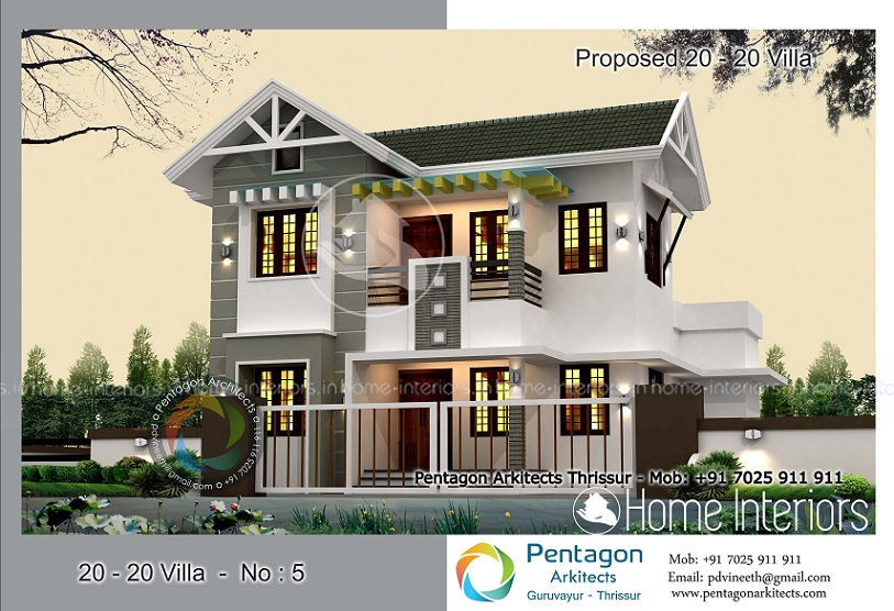 1500 sq ft contemporary 4 bhk double floor home design for 4 bhk villa interior design