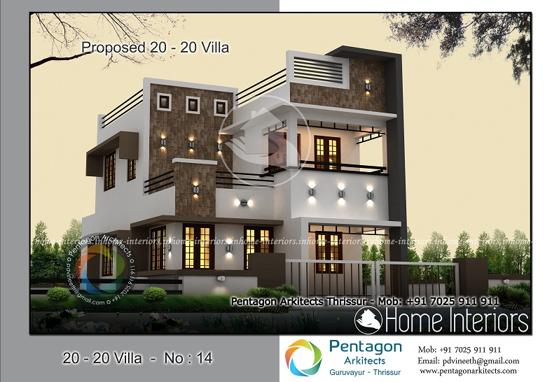 1618 square feet 4 bhk contemporary 20 20 home villa 14 design for 4 bhk villa interior design