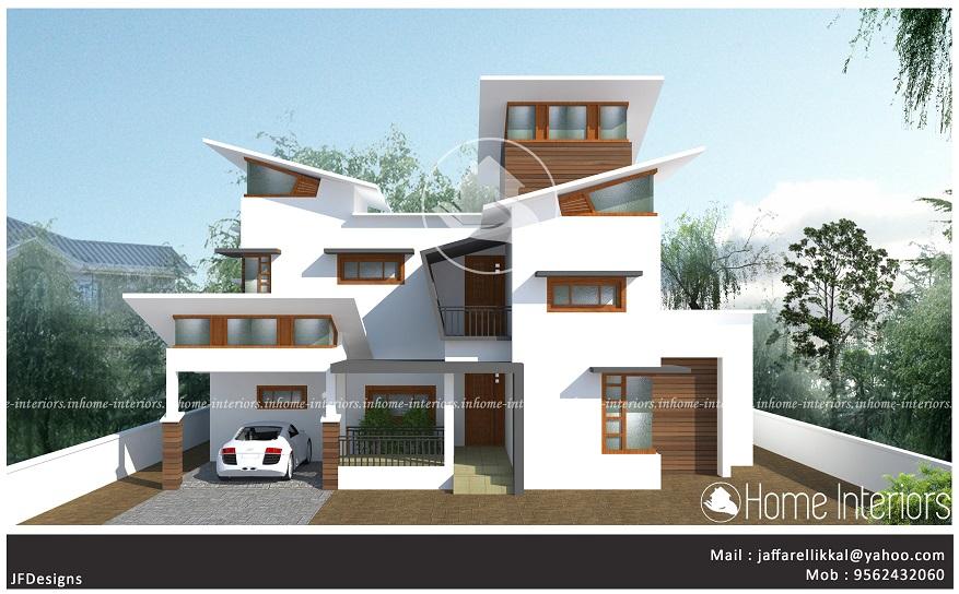 2538 Square Feet Double Floor Contemporary Home Design