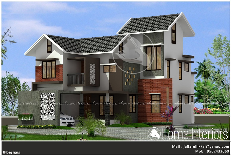 2145 Square Feet Double Floor Traditional Home Design