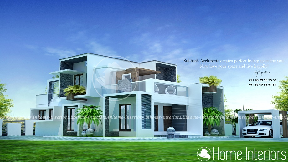 2200 Square Feet Double Floor Contemporary Home Designs