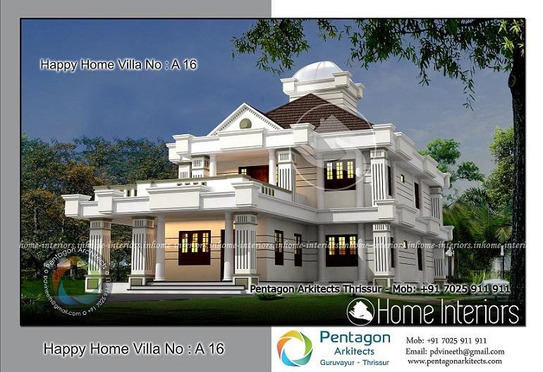 3214 Square Feet 5 BHK Contemporary Happy Home Villa 16 Design
