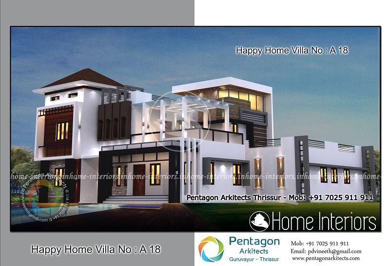 3602 Square Feet 5 BHK Contemporary Happy Home Villa 18 Design