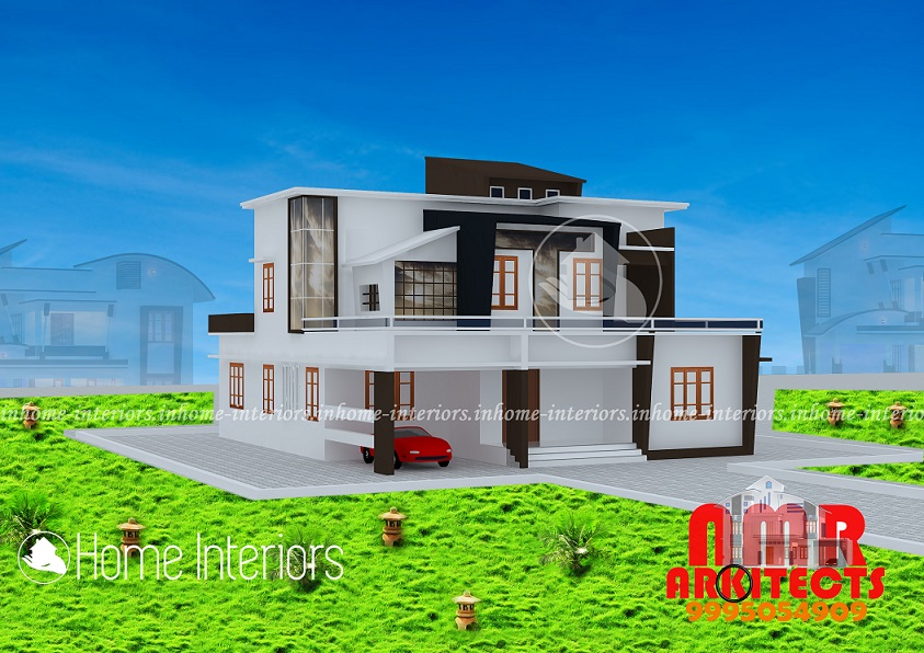 2761 Square Feet Double Floor Contemporary Home Design