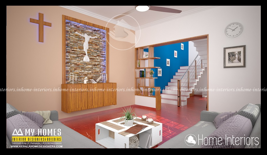Prayer room archives home interiors for House interior design kerala photos