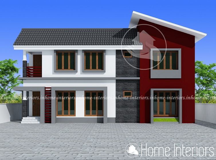 1523 Square Feet Double Floor Contemporary Home Design