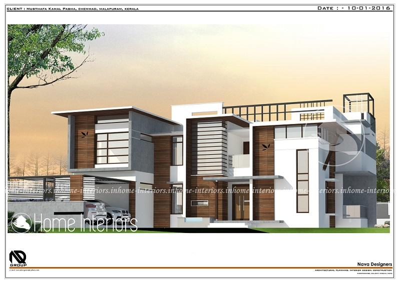 3319 Square Feet Double Floor Contemporary Home Design
