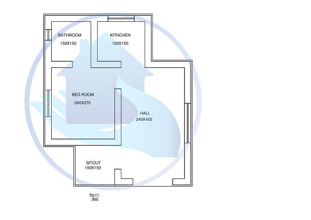 360 Square Feet Single Floor Modern Style Home Design