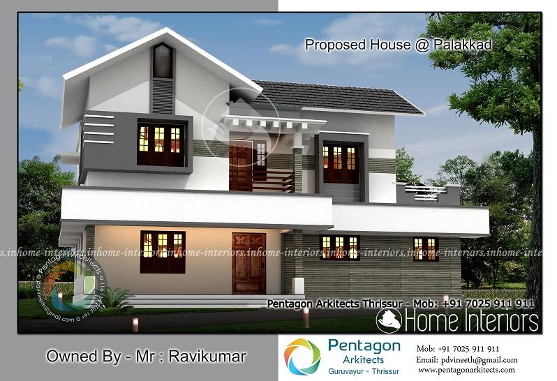 3685 Square Feet Double Floor Contemporary Home Designs