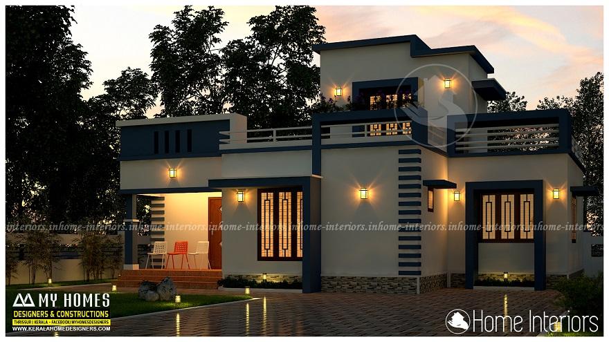 1155 Square Feet Single Floor Contemporary Home Design