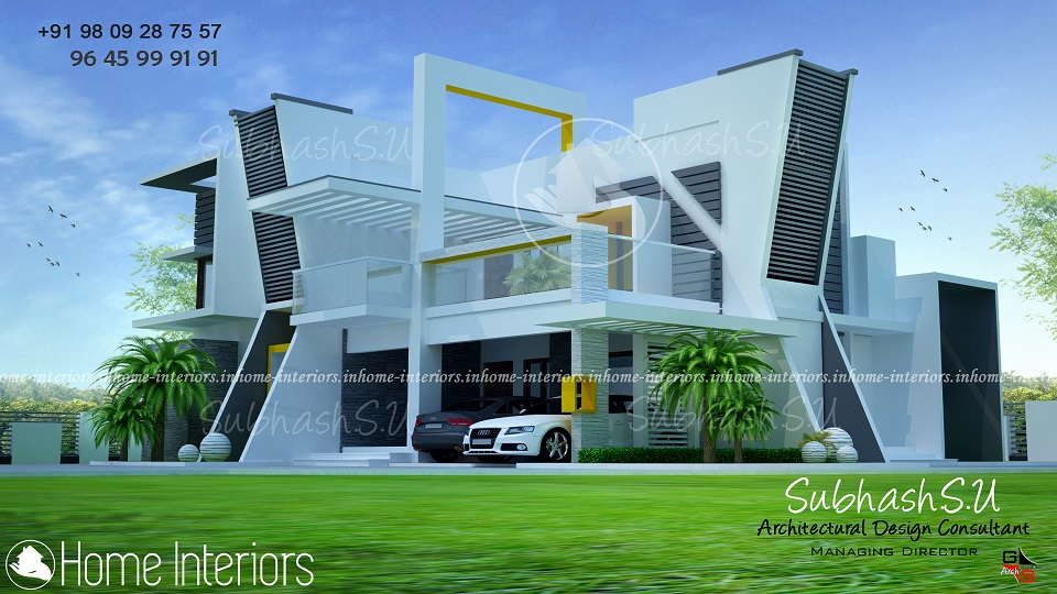 3100 Square Feet Double Floor Contemporary Home Designs