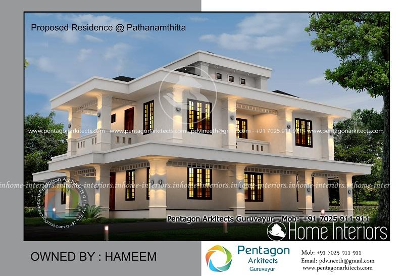 3113 Square Feet Double Floor Contemporary Home Design