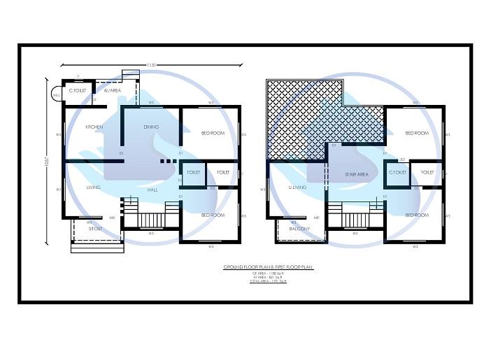 1701 Square Feet Double Floor Contemporary Home Design