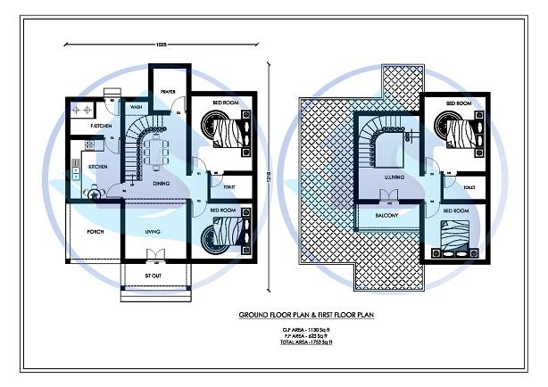1753 Square Feet Double Floor Contemporary Home Design