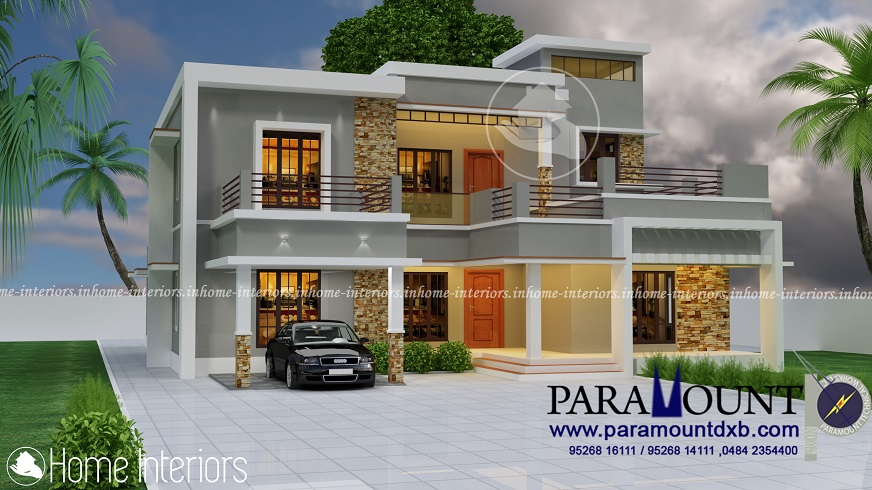3252 Square Feet Double Floor Contemporary Home Design