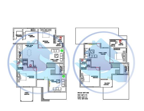 3252 Square Feet Double Floor Contemporary Home Design