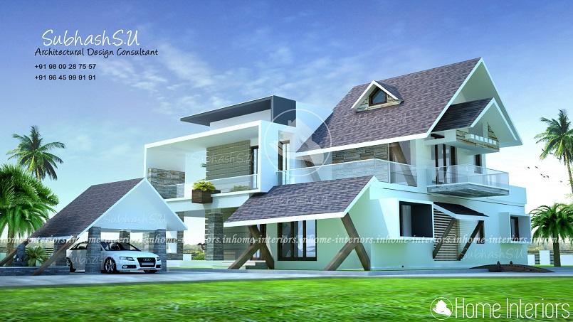 2800 Square Feet Double Floor Contemporary Home Design