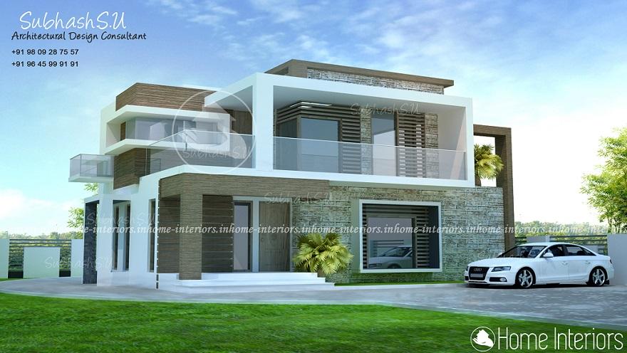 1550 Square Feet Double Floor Contemporary Home Design